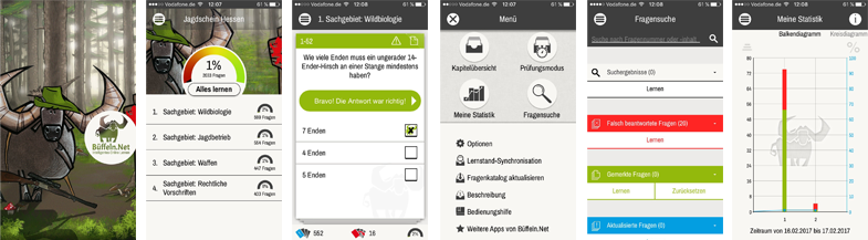 Die neue Büffeln.Net App für den Jagdschein Hessen