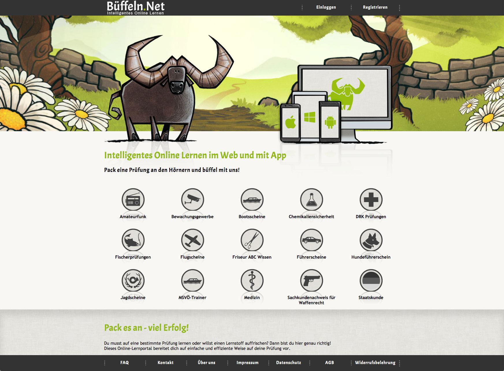 Büffeln.Net - Online Lernen - Startseite